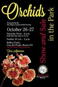 poster for the Fall Show of the San Diego County Orchid Society